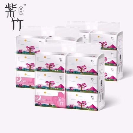 紫竹抽紙 6包/提 39.8元6提 加送同款3條手帕紙