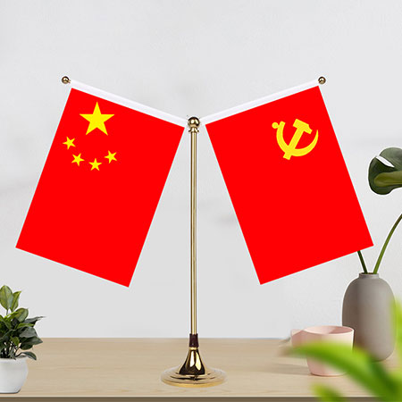 桌面党旗摆件
