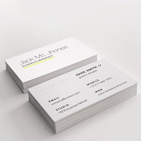 荷兰白卡名片